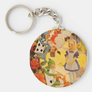 Alice in Wonderland: Painting the Roses Red Key Ring