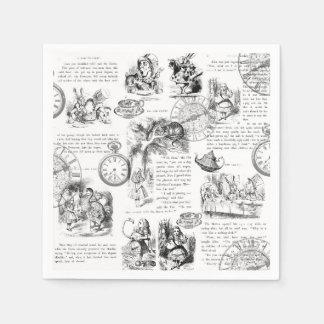 Alice in Wonderland paper napkins