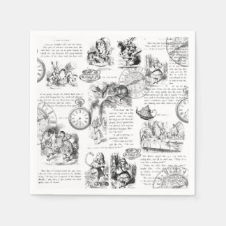 Alice in Wonderland paper napkins Disposable Napkin