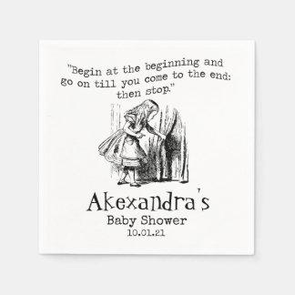 Alice In Wonderland Paper Party Napkin Disposable Serviette