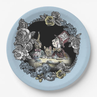 Alice in Wonderland Paper Plate-Mad Hatter Paper Plate