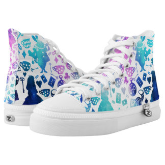 Alice in Wonderland pattern shoes Printed Shoes