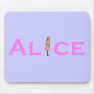 Alice in Wonderland Pink Mouse Pad