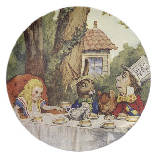 Alice in wonderland plate for a mad tea party
