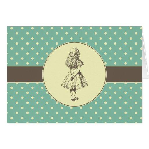 Alice in Wonderland Polka Dots Greeting Card
