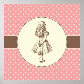 Alice in Wonderland Polka Dots Poster