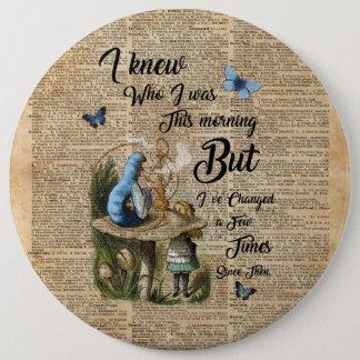 Alice in Wonderland Quote Vintage Dictionary Art 6 Cm Round Badge
