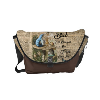 Alice in Wonderland Quote Vintage Dictionary Art Courier Bags