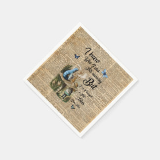 Alice in Wonderland Quote Vintage Dictionary Art Paper Napkins