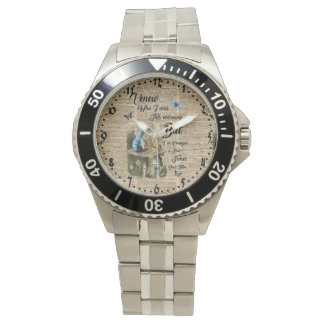 Alice in Wonderland Quote Vintage Dictionary Art Watch