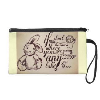 Alice in Wonderland Quote Wristlet