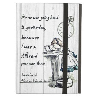 Alice in Wonderland Quotes Cover For iPad Air