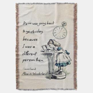 Alice in Wonderland Quotes Throw Blanket