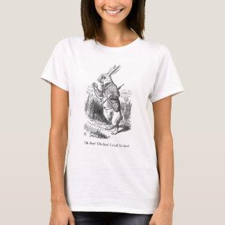 Alice in Wonderland rabbit illustration t-shirt