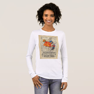 Alice in Wonderland Rabbit Long Sleeve Woman's Tee