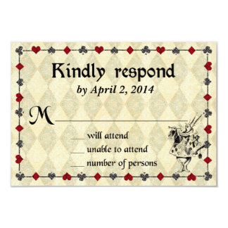 Alice in Wonderland Response Card - Wedding