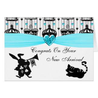 Alice In Wonderland Royal Crowns Baby Shower Cards