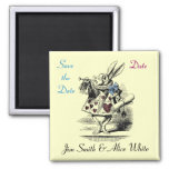 Alice in Wonderland Save the Date Magnet