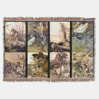 Alice In Wonderland Set Of Eight Images Rugs Throw Blanket