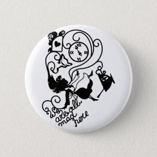 Alice in Wonderland. Silhouette illustration 6 Cm Round Badge