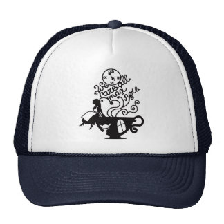 Alice in Wonderland. Silhouette illustration Cap