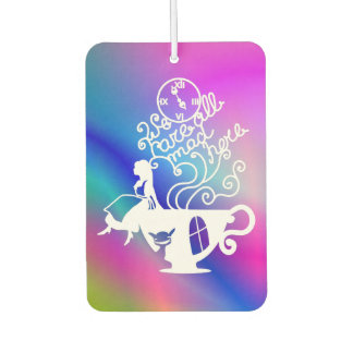 Alice in Wonderland. Silhouette illustration Car Air Freshener