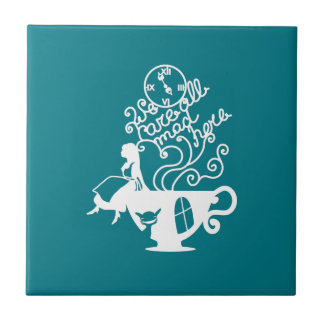 Alice in Wonderland. Silhouette illustration Small Square Tile