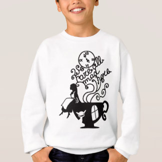 Alice in Wonderland. Silhouette illustration Sweatshirt
