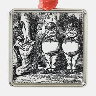 Alice in Wonderland Silver-Colored Square Decoration