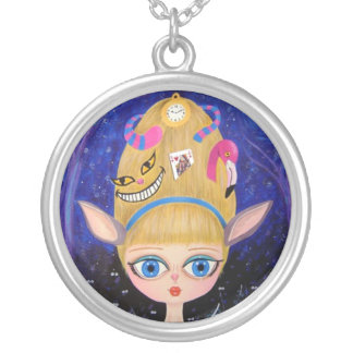 Alice in Wonderland Silver-Plated Necklace