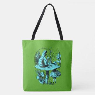 Alice in Wonderland Smoking Centipede Tote Bag