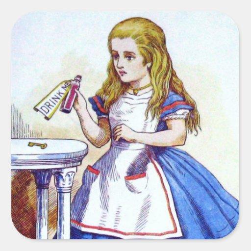 Alice in Wonderland Stickers and Postcards Sticker