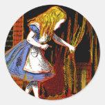 Alice in Wonderland Stickers Round Sticker