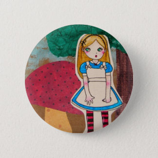 Alice in Wonderland - Stripped Socks 6 Cm Round Badge