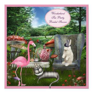 Alice in Wonderland Tea Party Bridal Shower 13 Cm X 13 Cm Square Invitation Card