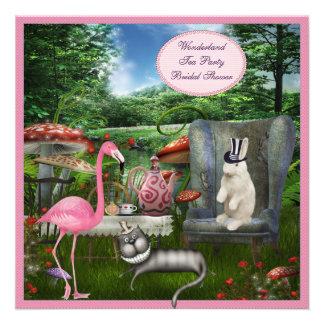 Alice in Wonderland Tea Party Bridal Shower Custom Invite