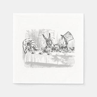 Alice in Wonderland Tea Party Paper Napkins Disposable Serviette