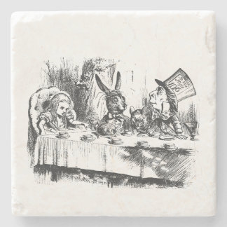 Alice in Wonderland Tea Party Stone Beverage Coaster