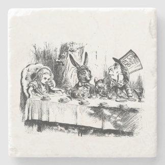 Alice in Wonderland Tea Party Stone Beverage Coaster