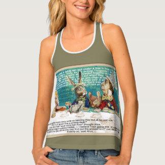 Alice in Wonderland tea party Tank Top