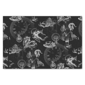 Alice in Wonderland Tea Time Black Tissue Paper