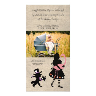 Alice in Wonderland Thank You Baby Photo Card
