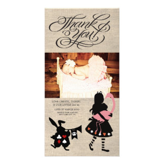 Alice in Wonderland Thank You Baby Photo Card Photo Greeting Card