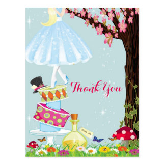 Alice in Wonderland Thank You Postcards