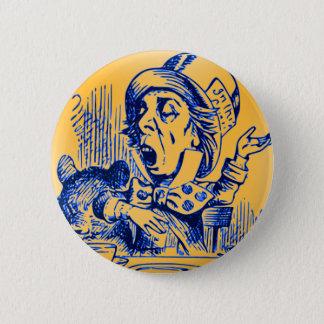 Alice in Wonderland - The Mad Hatter 6 Cm Round Badge
