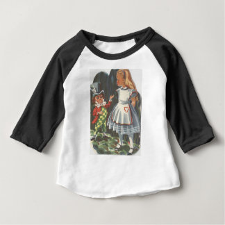Alice in Wonderland & The Mad Hatter Baby T-Shirt
