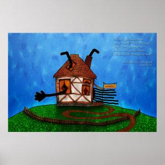Alice in Wonderland - The Rabbit s House Print