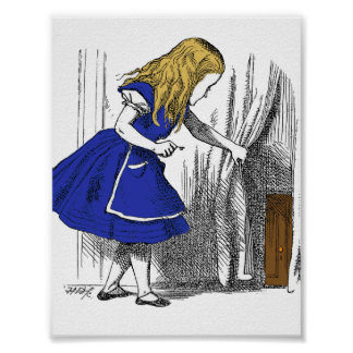 Alice in Wonderland - The Small Door Poster
