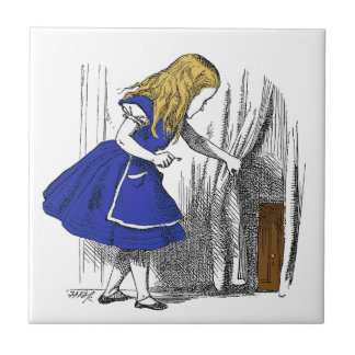 Alice in Wonderland - The Small Door Small Square Tile