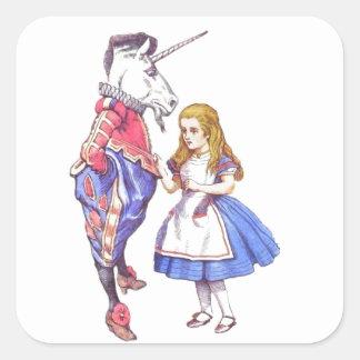 alice in wonderland & the unicorn stickers